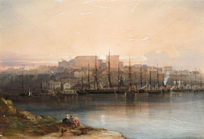 Conrad Martens (England 1801 - Australia 1878; Australia from 1835) 'Campbell's Wharf' 1857