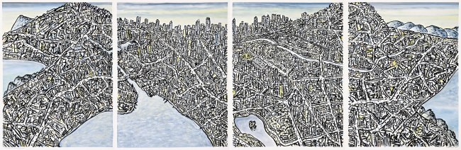 Jan Senbergs (born Latvia 1939, arrived Australia 1950) 'Extended Melbourne labyrinth' 2013