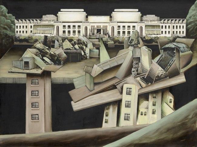 Jan Senbergs (born Latvia 1939, arrived Australia 1950) 'Altered Parliament House 1' 1976