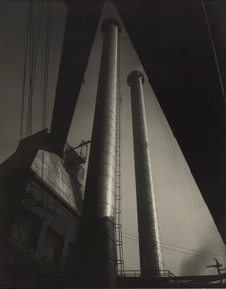 Max Dupain (Australian, 1911 - 1992) '(Factory chimney stacks)' 1940