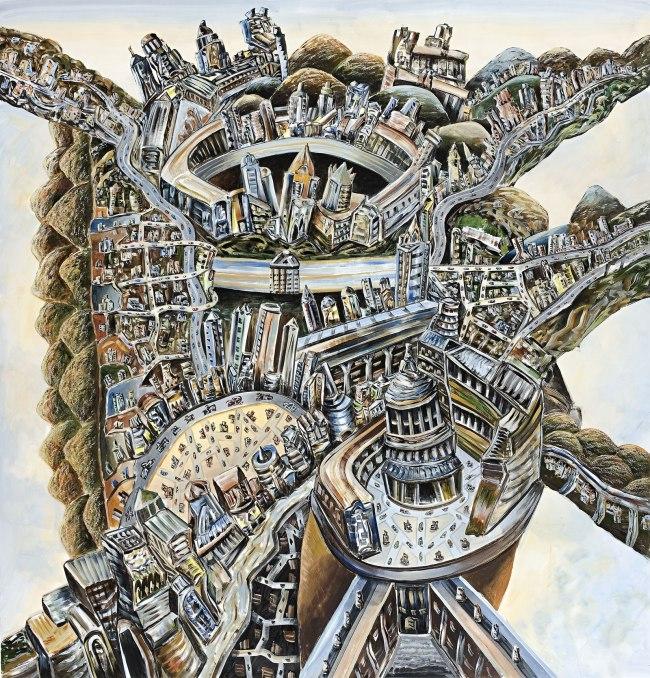 Jan Senbergs (born Latvia 1939, arrived Australia 1950) 'Paolozzi's city' 2010