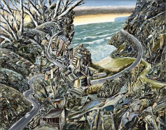 Jan Senbergs (born Latvia 1939, arrived Australia 1950) 'Coastal settlement' 2009