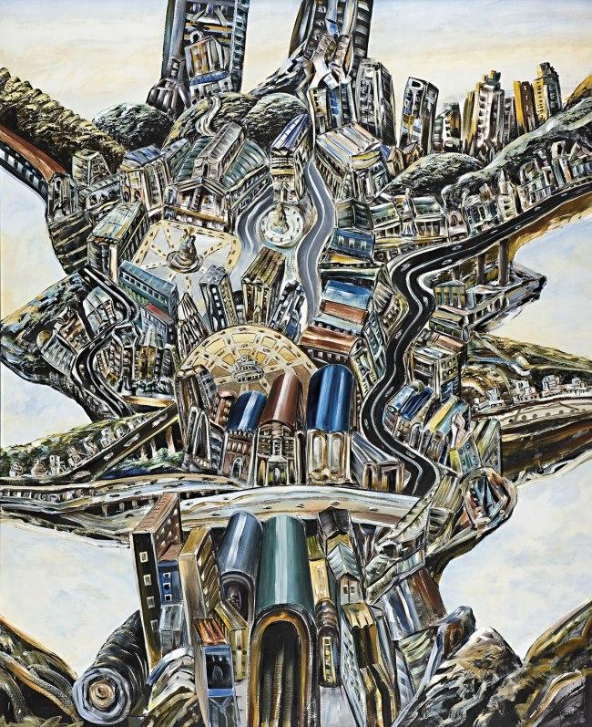 Jan Senbergs (born Latvia 1939, arrived Australia 1950) 'The elated city' 2009