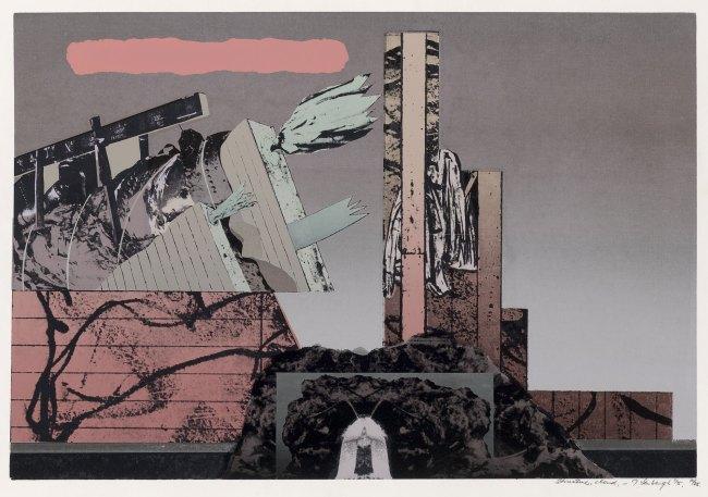 Jan Senbergs (born Latvia 1939, arrived Australia 1950) 'Structure, cloud' 1975