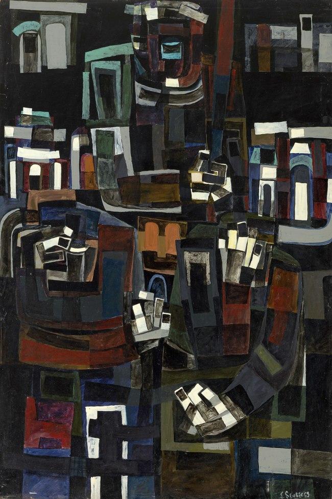 Jan Senbergs (born Latvia 1939, arrived Australia 1950) 'The whipper' 1961