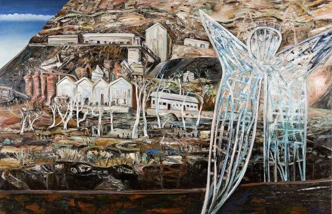 Jan Senbergs (born Latvia 1939, arrived Australia 1950) 'Blue angel of Wittenoom' 1988