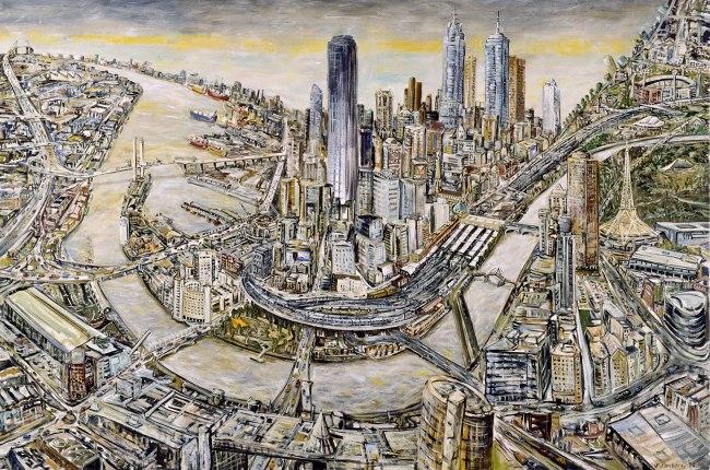 Jan Senbergs (born Latvia 1939, arrived Australia 1950) 'Melbourne' 1998-99