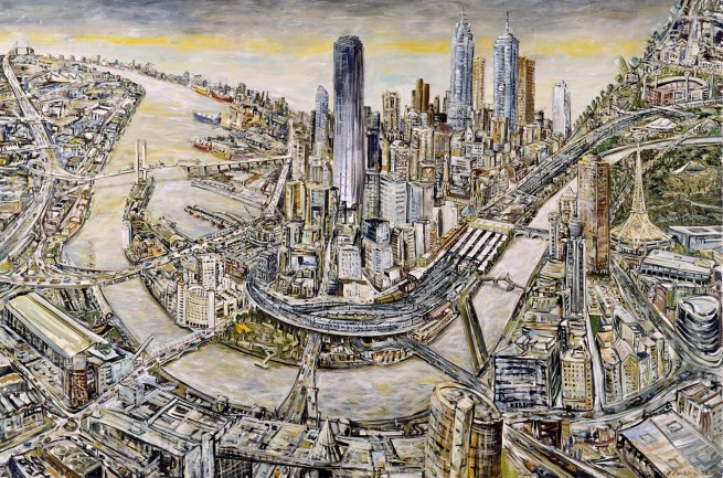Jan Senbergs (born Latvia 1939, arrived Australia 1950) 'Melbourne' 1998-99