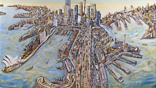 Jan Senbergs (born Latvia 1939, arrived Australia 1950) 'Sydney' 1998