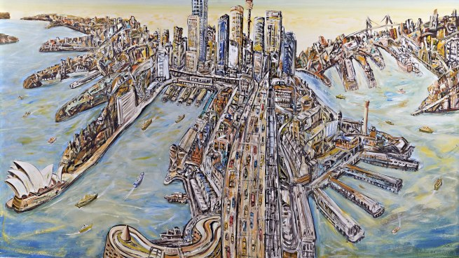 Jan Senbergs (born Latvia 1939, arrived Australia 1950) 'Sydney' 1998