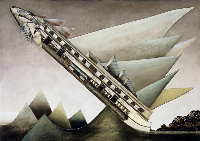 Jan Senbergs (born Latvia 1939, arrived Australia 1950) 'The flyer' 1975