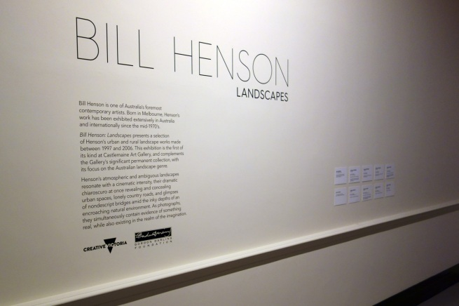 Opening titles for the exhibition 'Bill Henson: Landscapes' at the Castlemaine Art Gallery and Historical Museum
