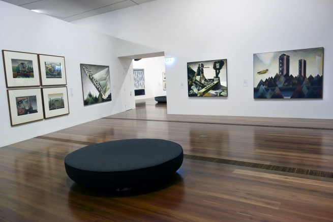 Installation view of the exhibition 'Jan Senbergs: Observation - Imagination' at The Ian Potter Centre: NGV Australia