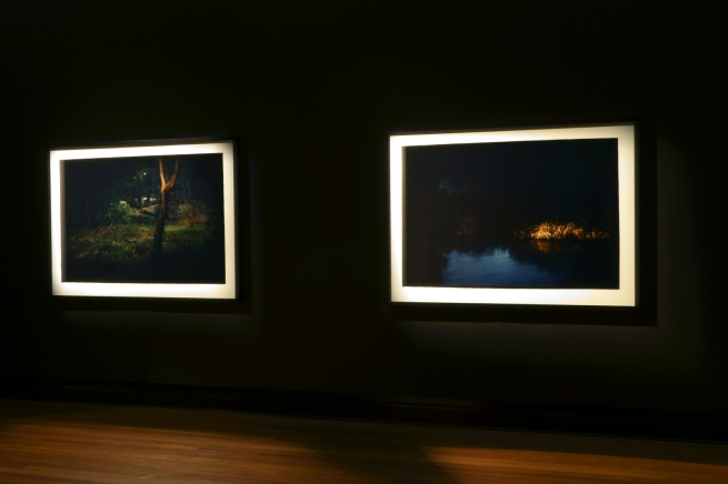 Installation photograph of the exhibition 'Bill Henson: Landscapes' at the Castlemaine Art Gallery and Historical Museum
