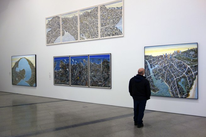Installation view of the exhibition Jan Senbergs: Observation - Imagination at The Ian Potter Centre: NGV Australia