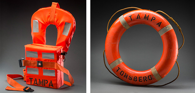 Lifejacket and lifebuoy from the 'MV Tampa' 2001