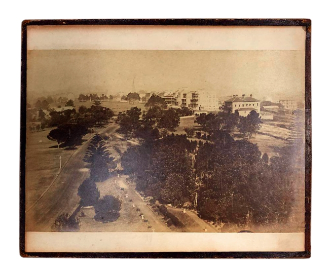 William Blackwood (1824 - 1897) 'Panorama of Sydney & Harbour from Government House' 1858 section 1
