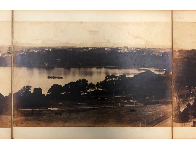 William Blackwood (1824 - 1897) 'Panorama of Sydney & Harbour from Government House' 1858 section 10