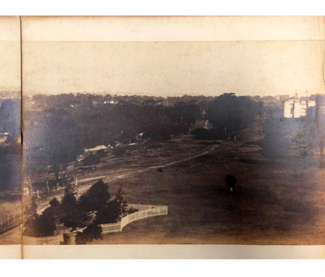 William Blackwood (1824 - 1897) 'Panorama of Sydney & Harbour from Government House' 1858 section 11