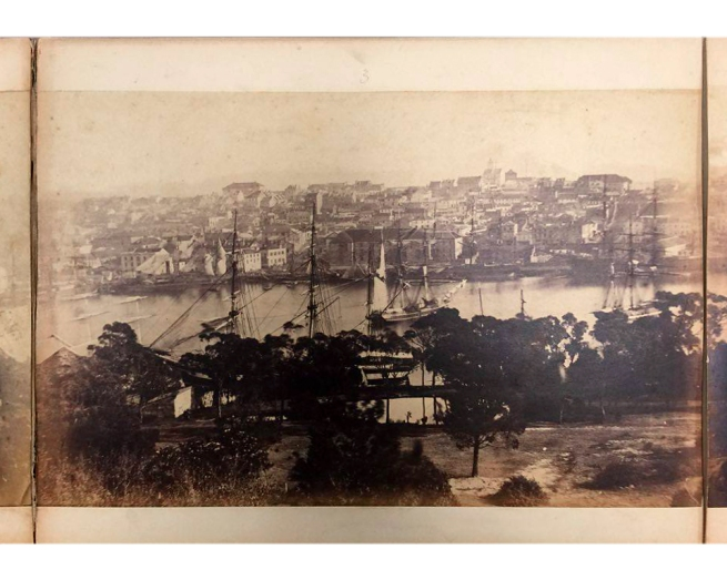 William Blackwood (1824 - 1897) 'Panorama of Sydney & Harbour from Government House' 1858 section 3