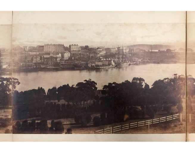 William Blackwood (1824 - 1897) 'Panorama of Sydney & Harbour from Government House' 1858 section 4
