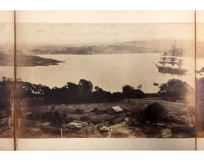 William Blackwood (1824 - 1897) 'Panorama of Sydney & Harbour from Government House' 1858 section 5