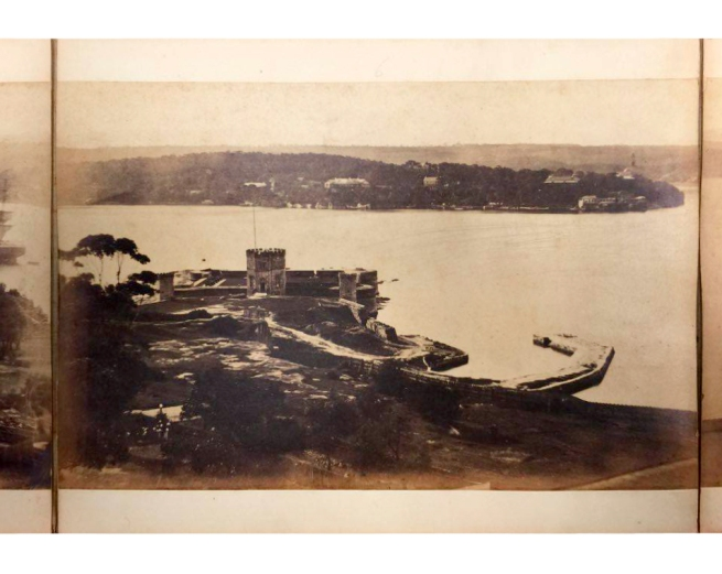 William Blackwood (1824 - 1897) 'Panorama of Sydney & Harbour from Government House' 1858 section 6