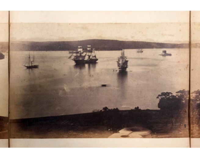 William Blackwood (1824 - 1897) 'Panorama of Sydney & Harbour from Government House' 1858 section 7