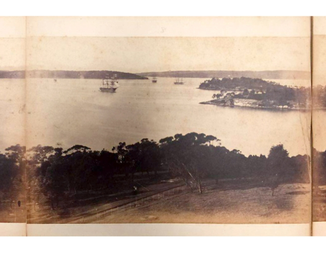 William Blackwood (1824 - 1897) 'Panorama of Sydney & Harbour from Government House' 1858 section 8