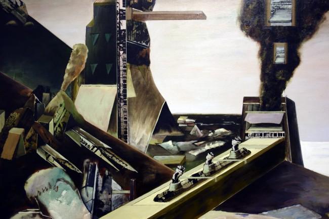 Jan Senbergs (born Latvia 1939, arrived Australia 1950) 'Black garden' (detail) 1972