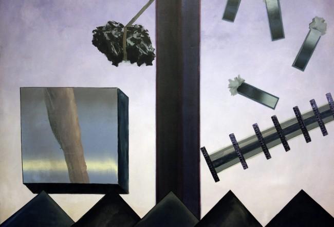 Jan Senbergs (born Latvia 1939, arrived Australia 1950) 'Column and still objects 1' (detail) 1968