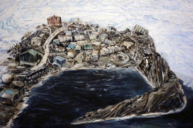 Jan Senbergs (born Latvia 1939, arrived Australia 1950) 'Mawson' (detail) 1987