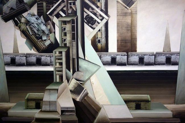 Jan Senbergs (born Latvia 1939, arrived Australia 1950) 'Observatory of hard edges' (detail) 1976