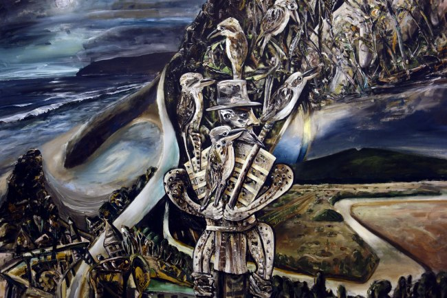Jan Senbergs (born Latvia 1939, arrived Australia 1950) 'Otway night' (detail) 1994
