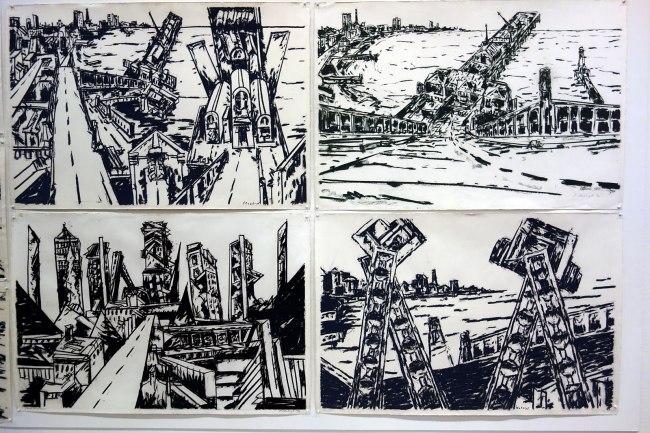 Jan Senbergs drawings late 1970s - early 1980s