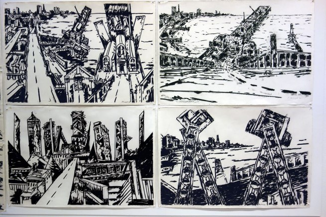 Jan Senbergs drawings late 1970s - early 1980s