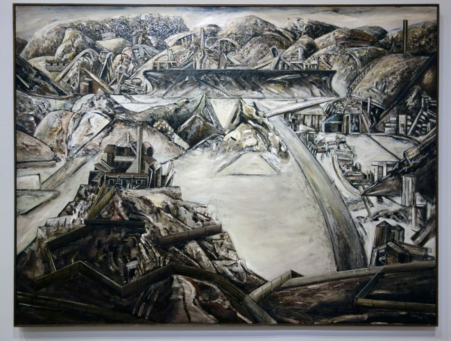 Jan Senbergs (born Latvia 1939, arrived Australia 1950) 'Sticht's view to the smelters 1' 1982