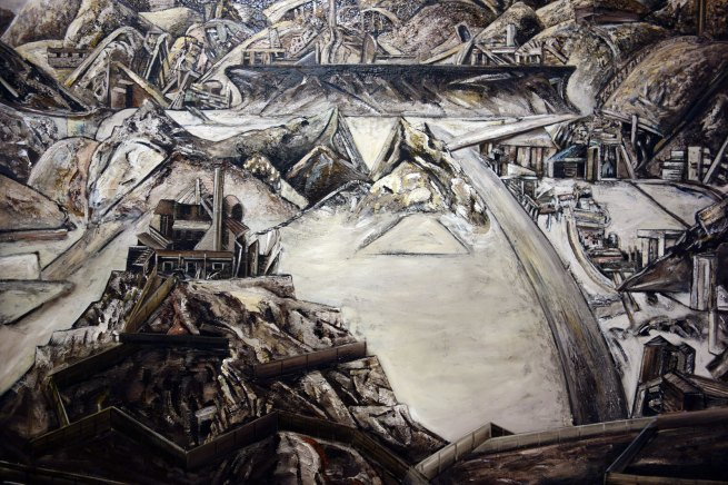 Jan Senbergs (born Latvia 1939, arrived Australia 1950) 'Sticht's view to the smelters 1' (detail) 1982
