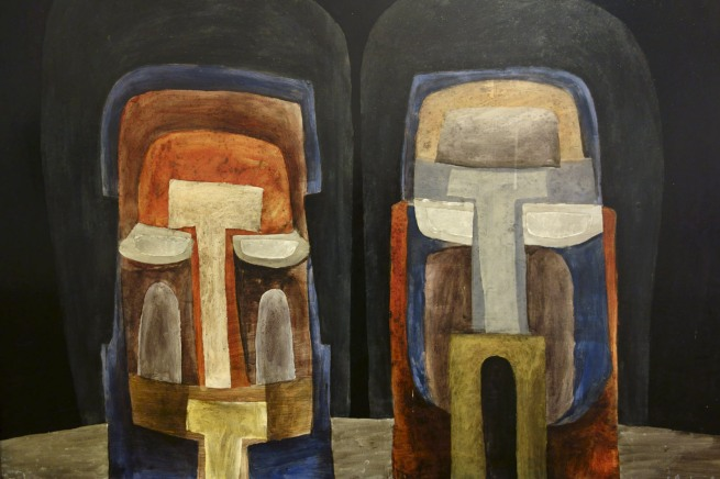 Jan Senbergs (born Latvia 1939, arrived Australia 1950) 'Two heads' 1961