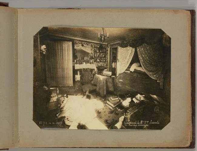 Alphonse Bertillon (French, 1853 - 1914) '[Album of Paris Crime Scenes]' 1901-8