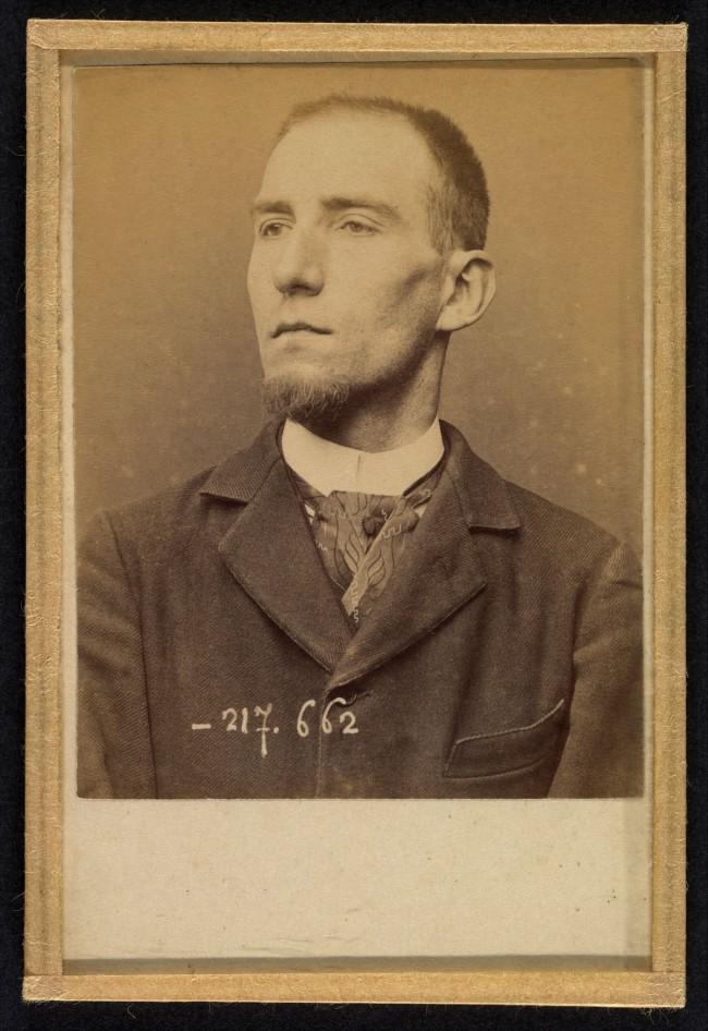 Alphonse Bertillon (French, 1853 - 1914) 'Feneon. Felix. Clerk of the Galerie Berheim Jeune' 1894-85