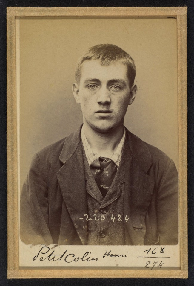 Alphonse Bertillon (French, 1853 - 1914) 'Peticolin. Henri. 23 ans, nŽ le 8/6/71 ˆGoersdorf (Bas-Rhin). Vernisseur. Anarchiste. 2/7/94' 1894