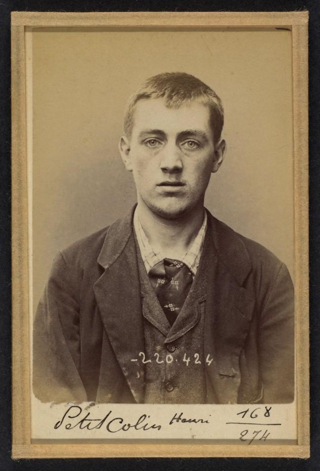 Alphonse Bertillon (French, 1853 - 1914) 'Peticolin. Henri. 23 ans, nŽ le 8/6/71 ˆGoersdorf (Bas-Rhin). Vernisseur. Anarchiste. 2/7/94' 1894