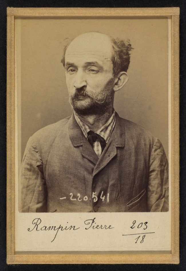 Alphonse Bertillon (French, 1853 - 1914) 'Rampin. Pierre. 3/7/94' 1894