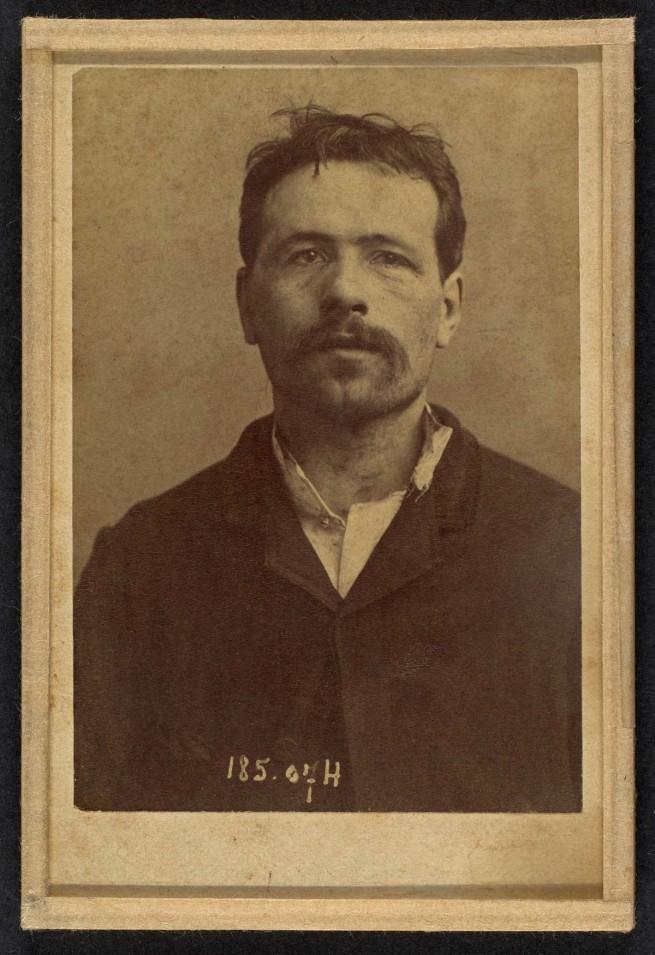Alphonse Bertillon (French, 1853 - 1914) 'Ravachol. Franois Claudius Kœnigstein. 33 ans, nŽ ˆ St-Chamond (Loire). CondamnŽ le 27/4/92' 1892