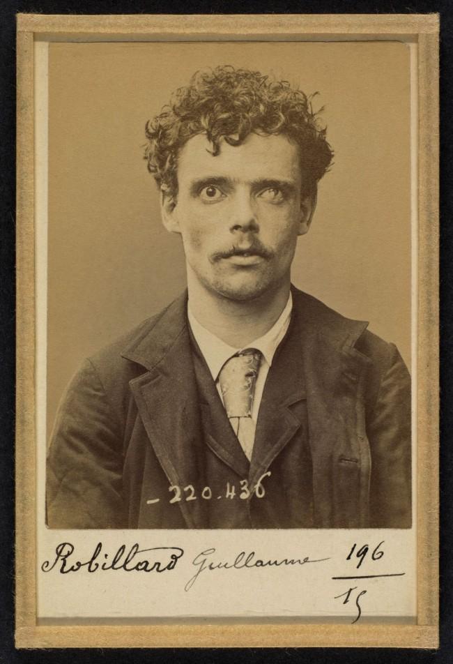 Alphonse Bertillon (French, 1853 - 1914) 'Robillard. Guillaume, Joseph. 24 ans, nŽ le 17/11/68 ˆVaucresson. Fondeur en cuivre. Anarchiste. 2/7/94' 1894
