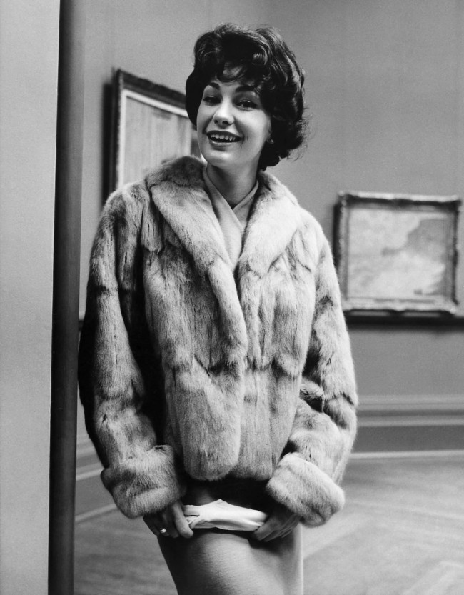 Henry Talbot (Germany 1920 - Australia 1999, Australia from 1940) 'No title (Fashion illustration model wearing hip length fur jacket, photographed at the National Gallery of Victoria)' 1960s