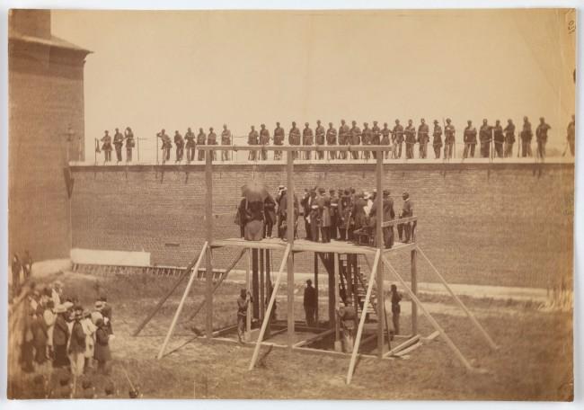 Alexander Gardner (American, Glasgow, Scotland 1821 - 1882 Washington, D.C.) 'Execution of the Conspirators' July 7, 1865