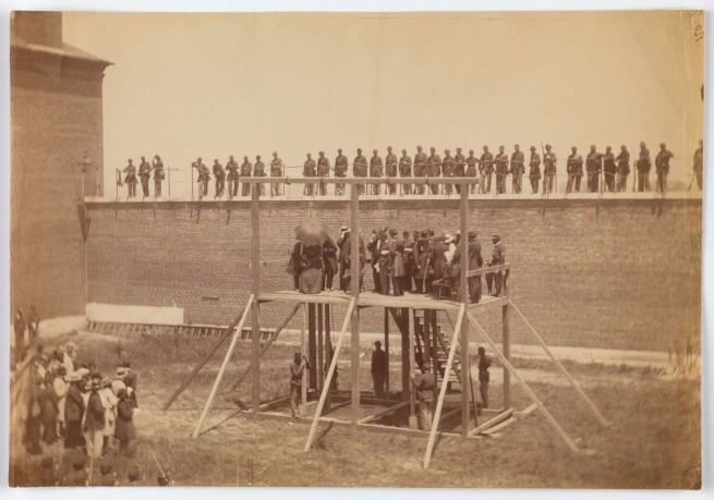 Alexander Gardner (American, Glasgow, Scotland 1821 - 1882 Washington, D.C.) 'Execution of the Conspirators' July 7, 1865
