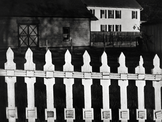 Paul Strand (American, 1890 - 1976) 'White Fence, Port Kent, New York' 1916 (negative); 1945 (print)